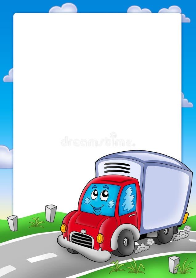 dostawy samochodowa śliczna rama royalty ilustracja