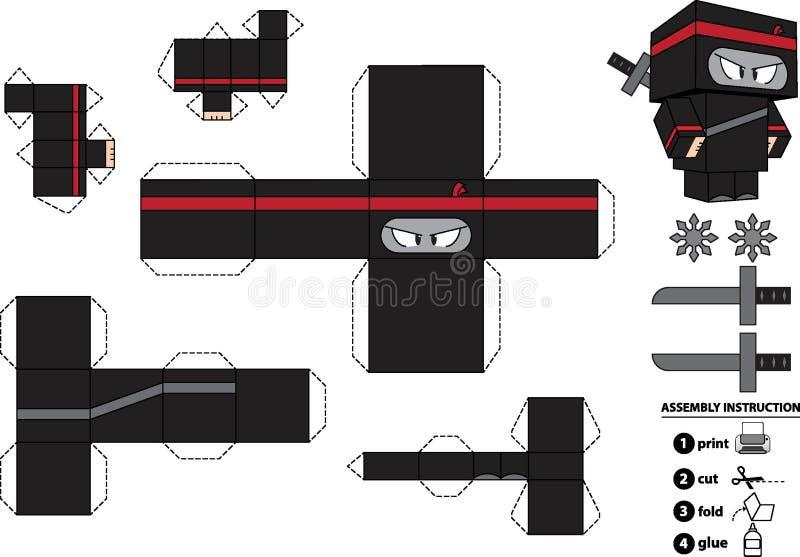 Dostosowana Ninja Papieru Zabawka royalty ilustracja