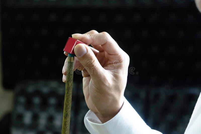 Dostosowywać głowę snooker wskazówka współzawodniczyć i dodawać snooker obraz royalty free