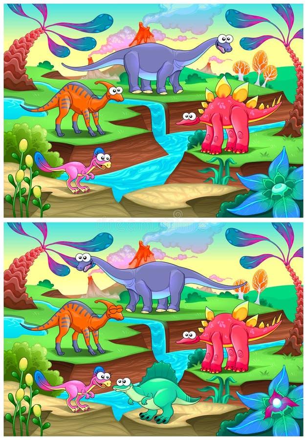 Dostrzega różnicy royalty ilustracja
