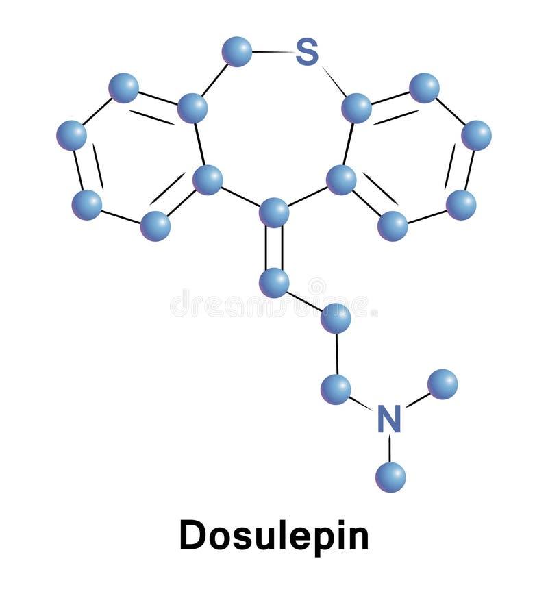 Dosulepin używa jako antidepressant royalty ilustracja