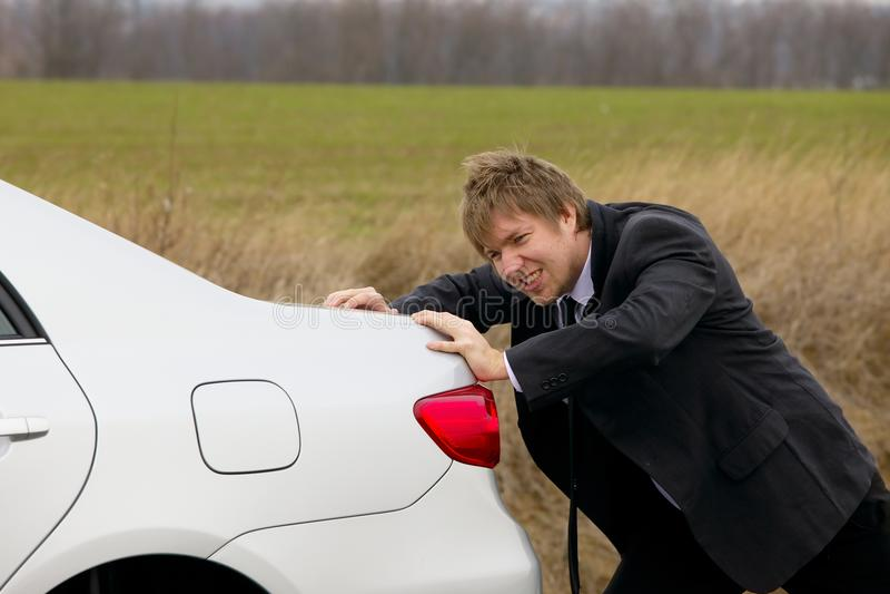 Dosunięcie samochód zdjęcie stock