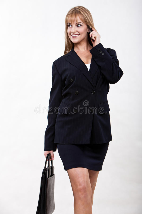 Atrakcyjnych lat dwudziestych blondynki caucasian bizneswoman zdjęcia stock