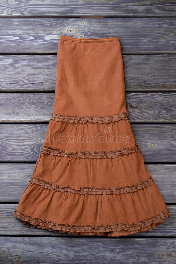 Dosyć brown suknia, mieszkanie nieatutowy obraz stock