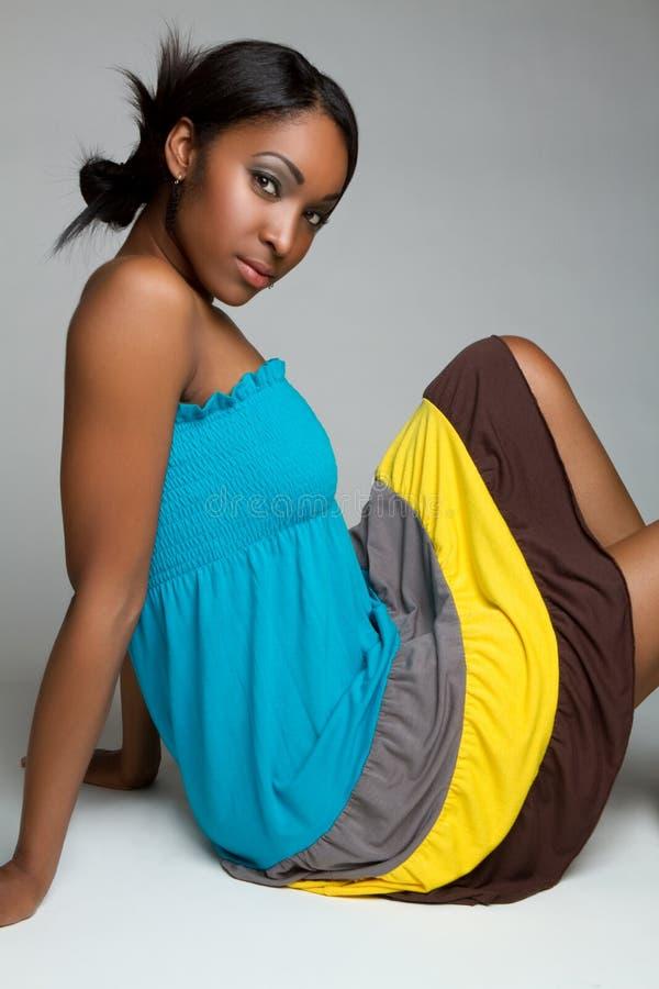 dosyć czarny dziewczyna obraz stock