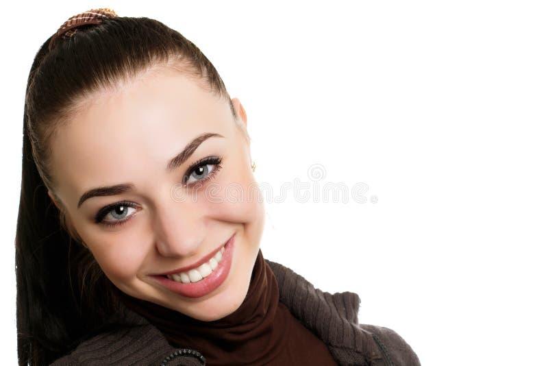 Dosyć ono uśmiecha się dama zdjęcia royalty free