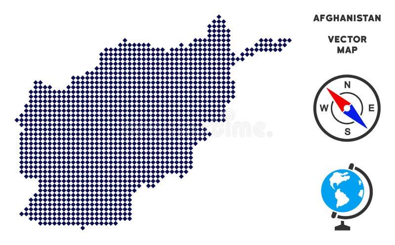 Dot Afghanistan Map vector illustratie