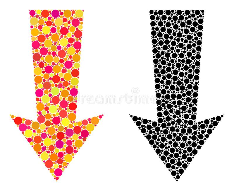 Dot Arrow Down Mosaic Icons stock abbildung