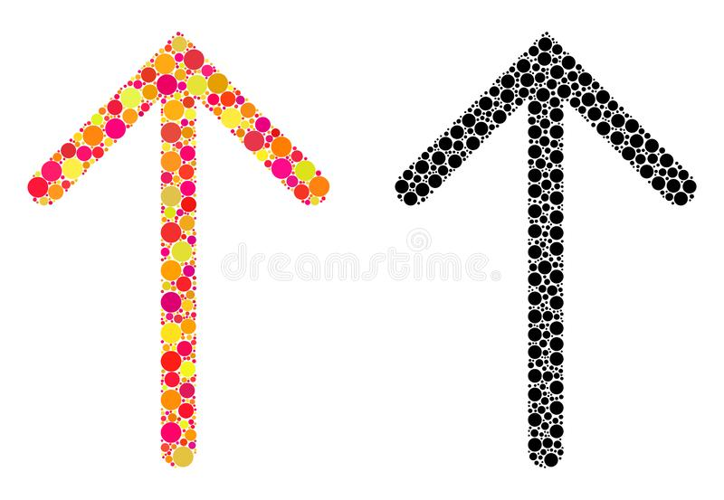Dot Arrow Up Mosaic Icons libre illustration