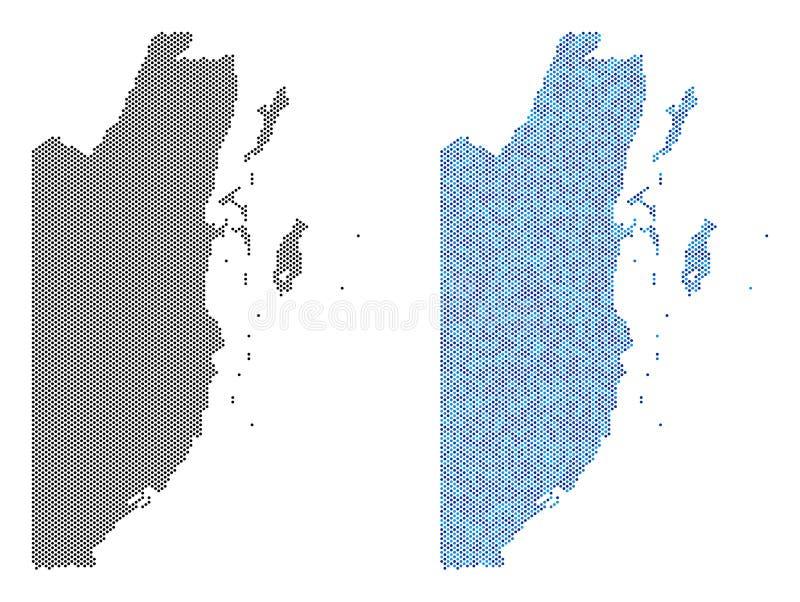 Dot Belize Map Abstractions ilustración del vector