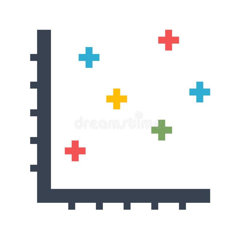 Dot Chart Vector Icon vector illustration