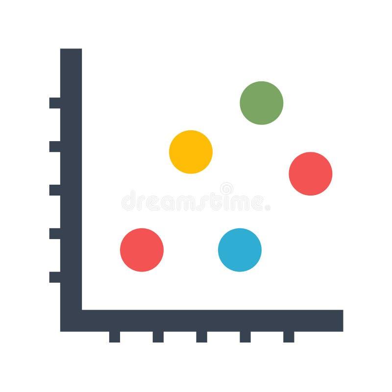 Dot Chart Vector Icon royalty free illustration