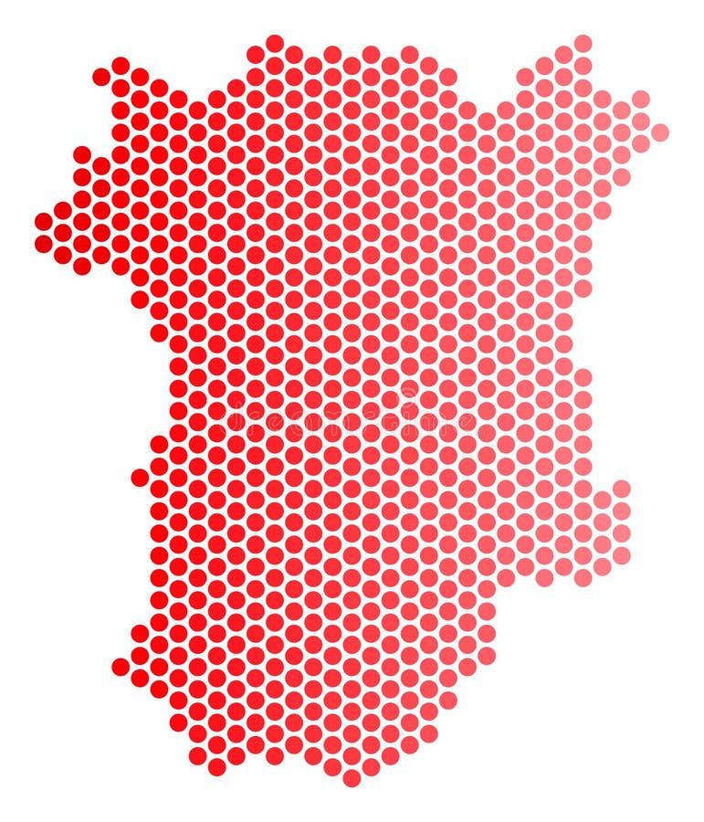 Dot Chechnya Map vermelho ilustração royalty free