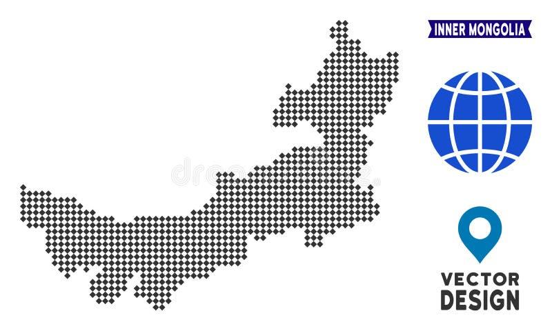 Dot Chinese Inner Mongolia Map illustration de vecteur