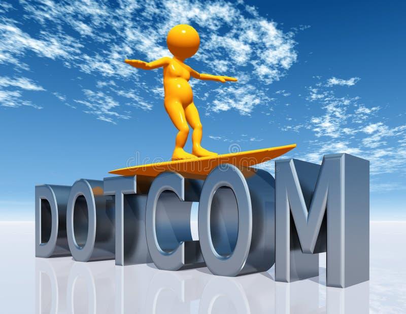 DOT-COM Top Level Domain. A computer generated 3D illustration stock illustration