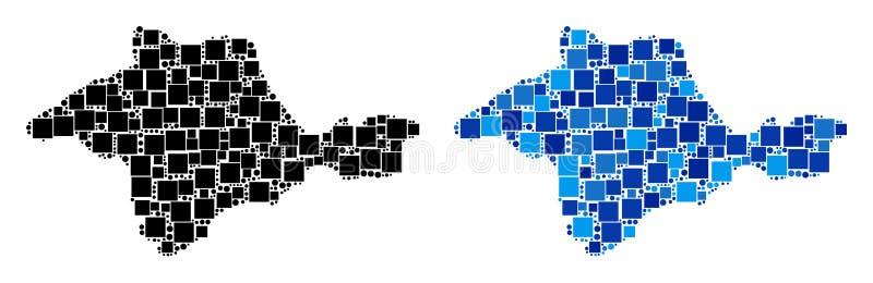 Dot Crimea Map met Blauwe Variant vector illustratie