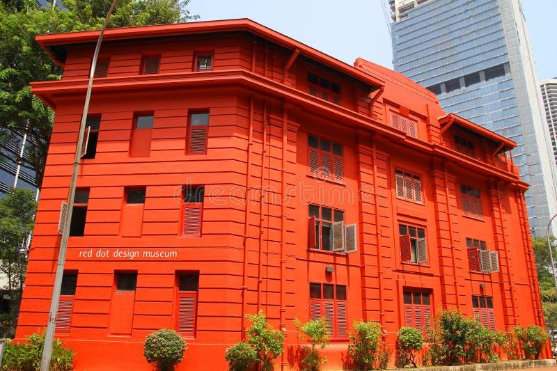 Dot Design Museum rojo, Singapur - 10 de abril de 2016: Dot Desig rojo foto de archivo libre de regalías