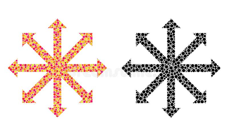 Dot Expand Arrows Mosaic Icons royalty-vrije illustratie