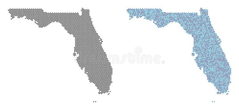Dot Florida Map Abstractions ilustração do vetor