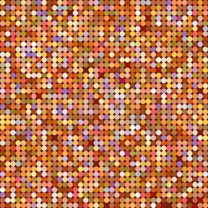 Dot Glitter Texture Modelo inconsútil Fondo del Año Nuevo que brilla intensamente o de la Navidad Concepto creativo del polvo col ilustración del vector