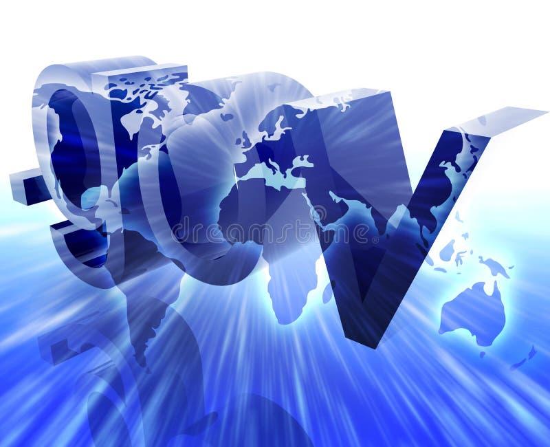 Dot gov internet. Web url international worldwide illustration vector illustration
