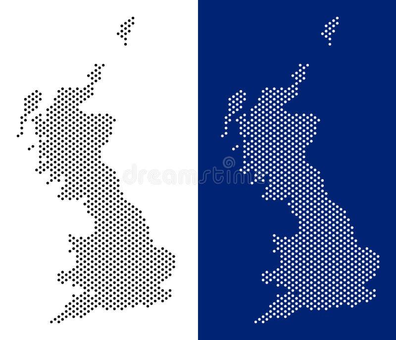 Dot Great Britain Map illustration de vecteur