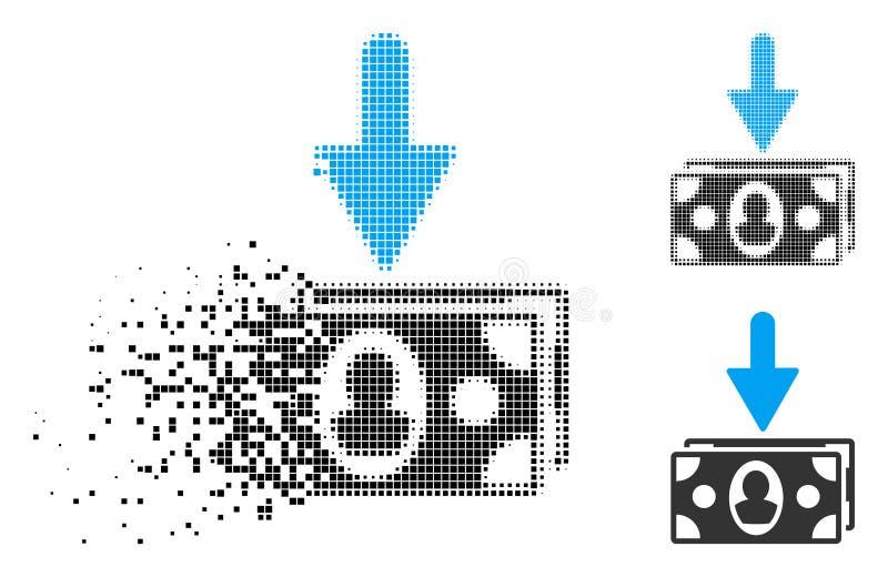 Dot Halftone Banknotes Income Icon de desaparecimento ilustração royalty free