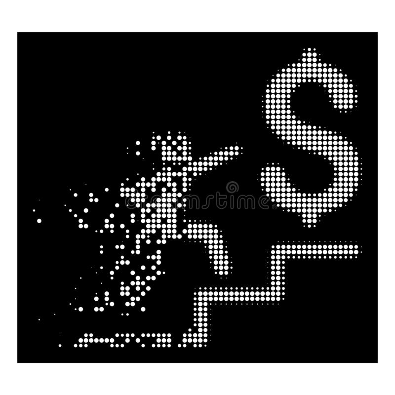 Dot Halftone Business Stairs Icon détruit intelligent illustration de vecteur