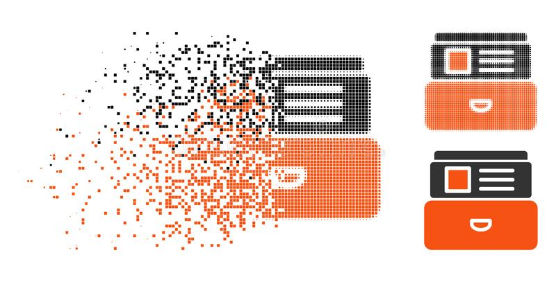 Dot Halftone Catalog Icon Destructed stock de ilustración