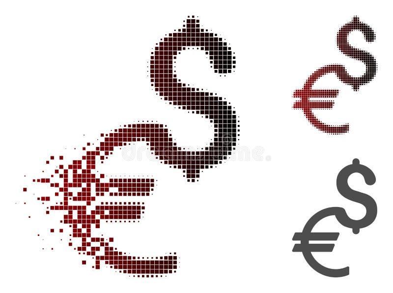 Dot Halftone Currency Icon disipado ilustración del vector