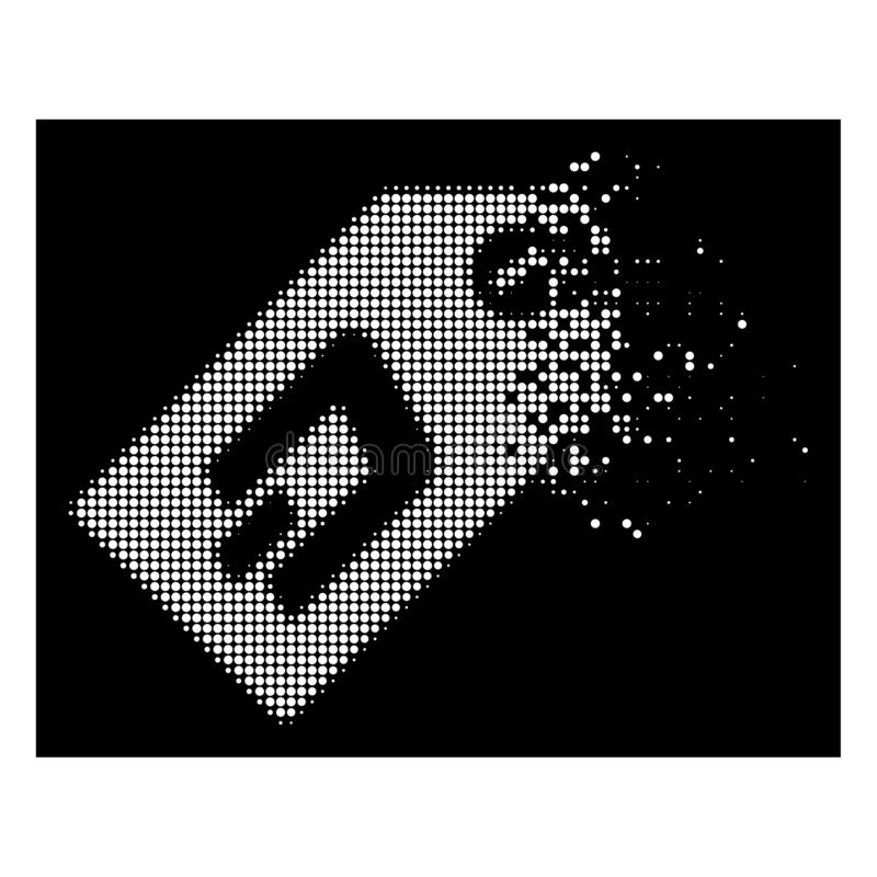 Dot Halftone Dash Token Icon dissous par blanc illustration de vecteur