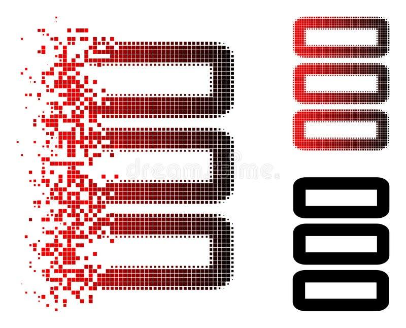 Dot Halftone Database Icon de dissolução ilustração royalty free