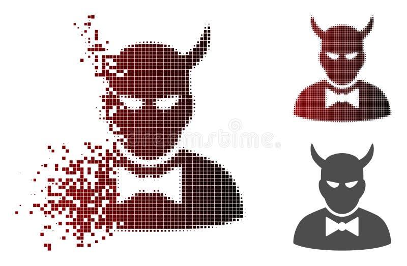 Dot Halftone Devil Icon dañado libre illustration