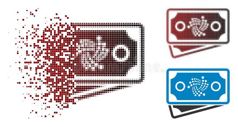 Dot Halftone Iota Banknotes Icon de desaparecimento ilustração do vetor