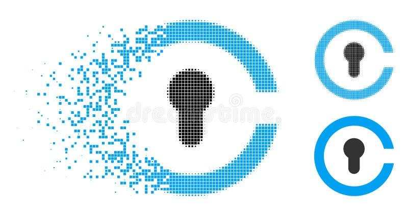 Dot Halftone Keyhole Icon disperso libre illustration