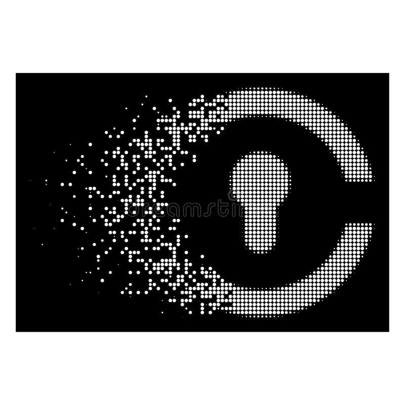 Dot Halftone Keyhole Icon móvil blanco ilustración del vector