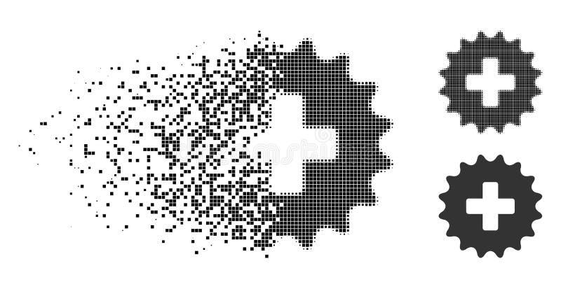 Dot Halftone Plus Stamp Icon disperso ilustración del vector