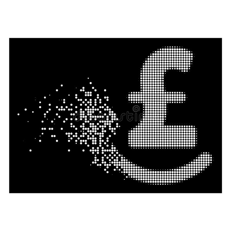 Dot Halftone Repay Pound Icon dañado brillante libre illustration