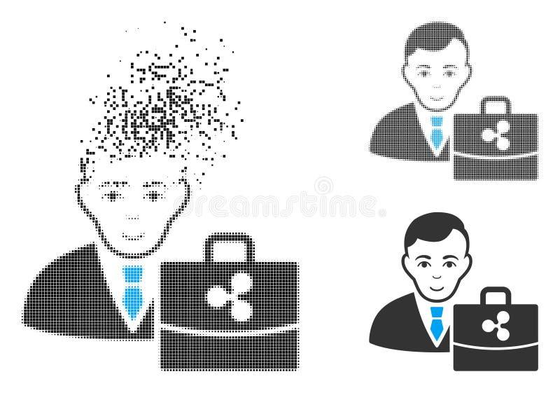 Dot Halftone Ripple Accounter Icon disuelto con la cara stock de ilustración