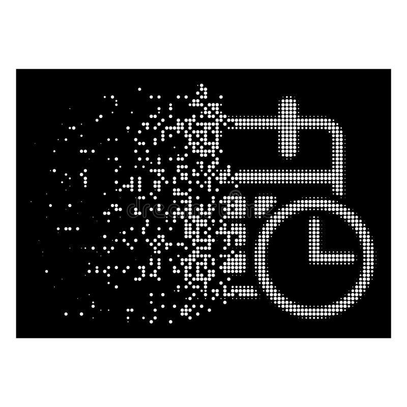Dot Halftone Timetable Icon de desintegração brilhante ilustração royalty free