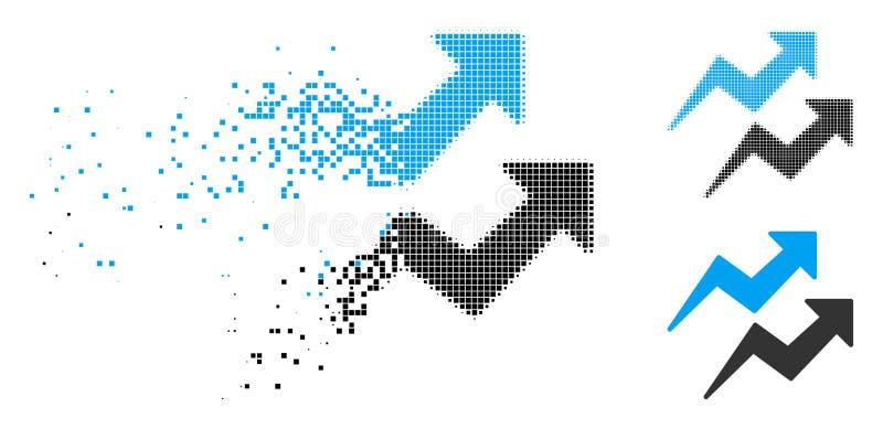Dot Halftone Trends Arrows Icon destrozado ilustración del vector