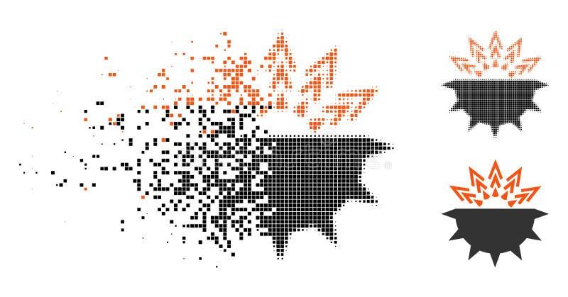 Dot Halftone Viral Structure Icon de desintegración stock de ilustración