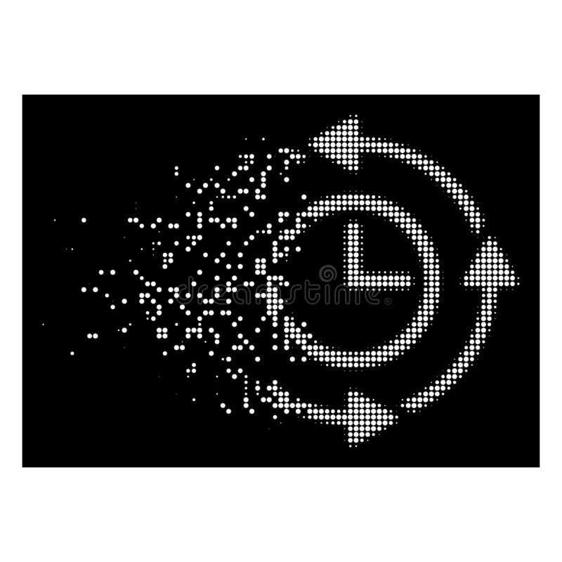 Dot Halftone Wayback Clock Icon fracturado brillante libre illustration