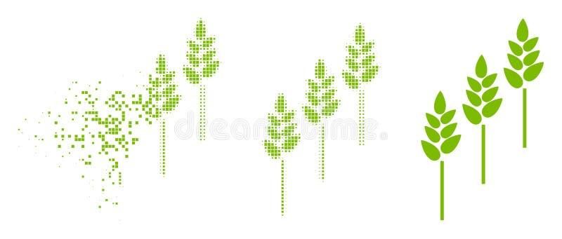 Dot Halftone Wheat Plants Icon hecho fragmentos ilustración del vector