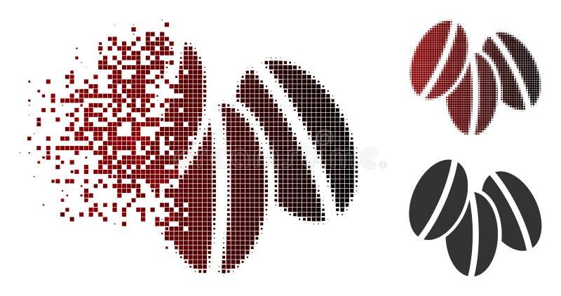 Dot Halftone Wheat Seeds Icon détruit illustration libre de droits