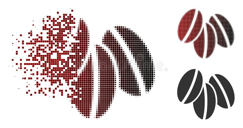 Dot Halftone Wheat Seeds Icon Destructed libre illustration