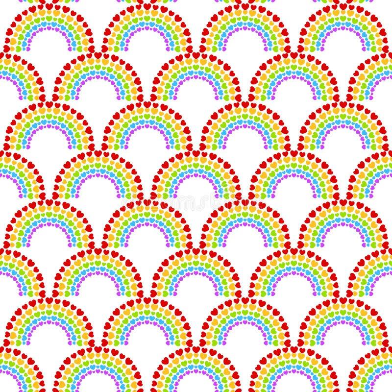 Dot Hearts Arch Pattern inconsútil fotografía de archivo