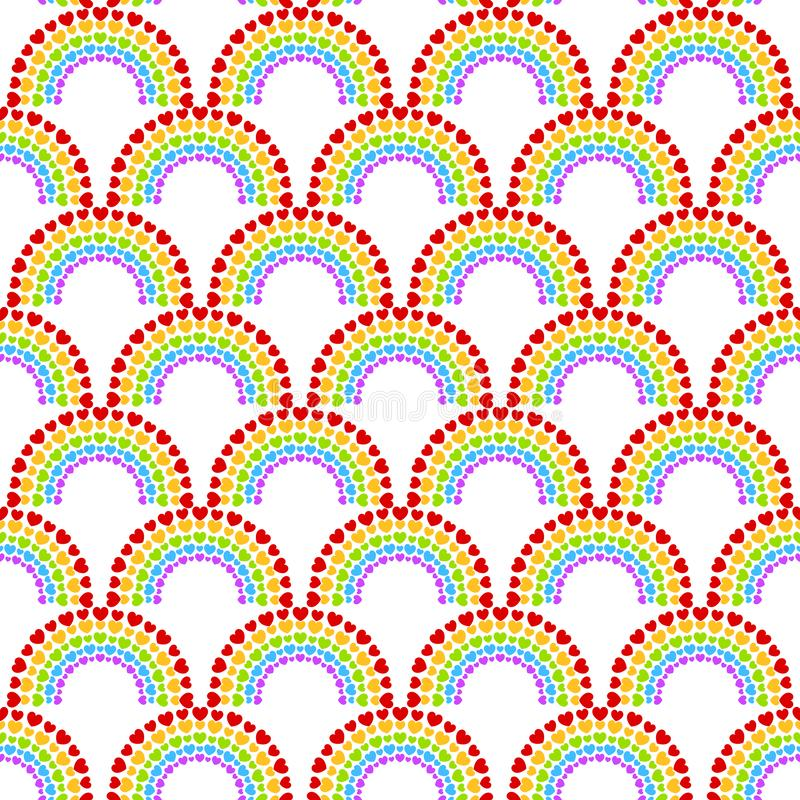 Dot Hearts Arch Pattern sans couture photographie stock