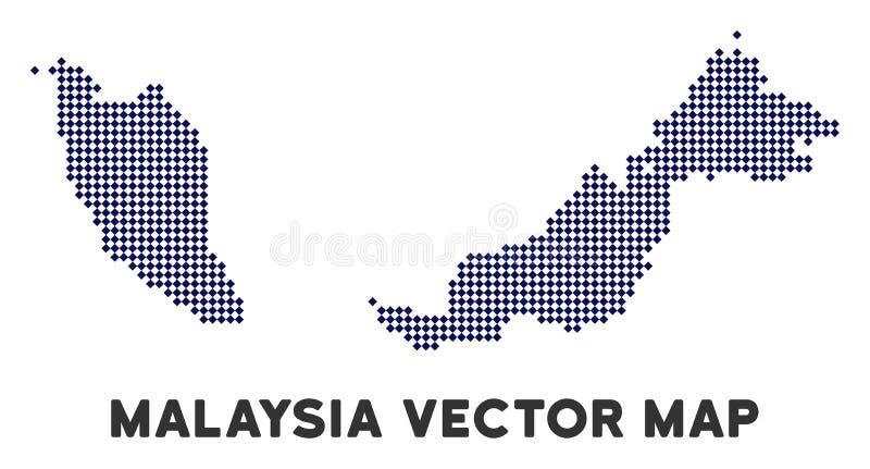 Dot Malaysia Map stock illustrationer