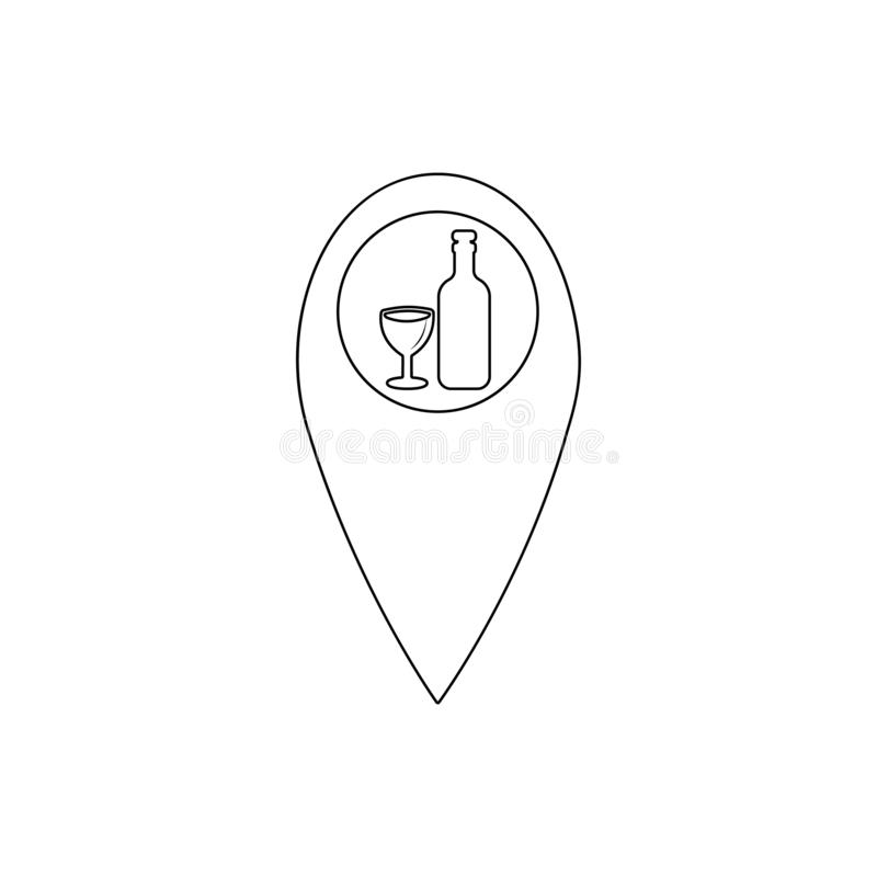 Dot on the map bar icon. Element of Bar for mobile concept and web apps icon. Thin line icon for website design and development,. App development on white vector illustration